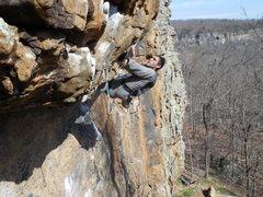 Rock Climbing Photo: Lavender Eye - heel hook beta
