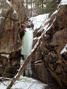 """Rock Climbing Photo: 5'8"""" person for scale. Upper flow is 10' behi..."""