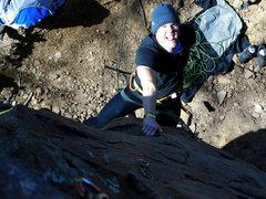 Rock Climbing Photo: Bill having a little fun on Man Servant