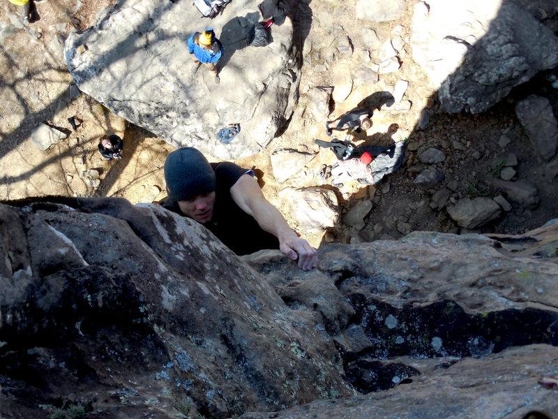 Rock Climbing Photo: Bill on Man Servant