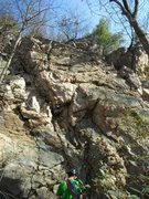 Rock Climbing Photo: Follow the prominent left facing corner down and y...