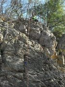 Rock Climbing Photo: You can clearly see where the gear is placed. The ...