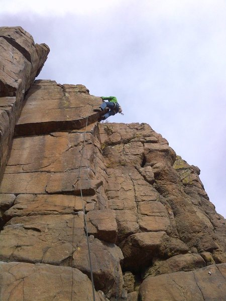Rock Climbing Photo: This should clear up the route description issue, ...