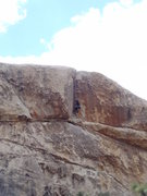 Rock Climbing Photo: Finishing up the top portion of Boulder Dash on TR...