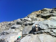 Rock Climbing Photo: Doing Schoolhouse Rock  5.8 on TR. I am the tiny p...
