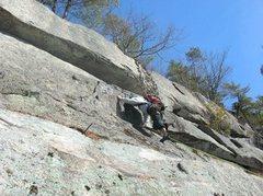 """Rock Climbing Photo: Jon Garlough on a calendar Winter ascent of """"..."""