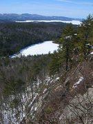 Rock Climbing Photo: View of Lake Winnipesaukee and Knights Pond from t...