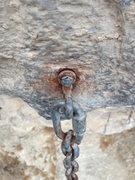 Rock Climbing Photo: Old 5th bolt on Pretty Hate Machine