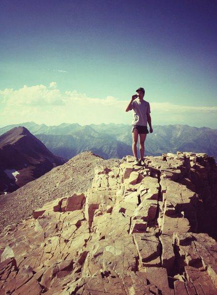 Rock Climbing Photo: Timp summit