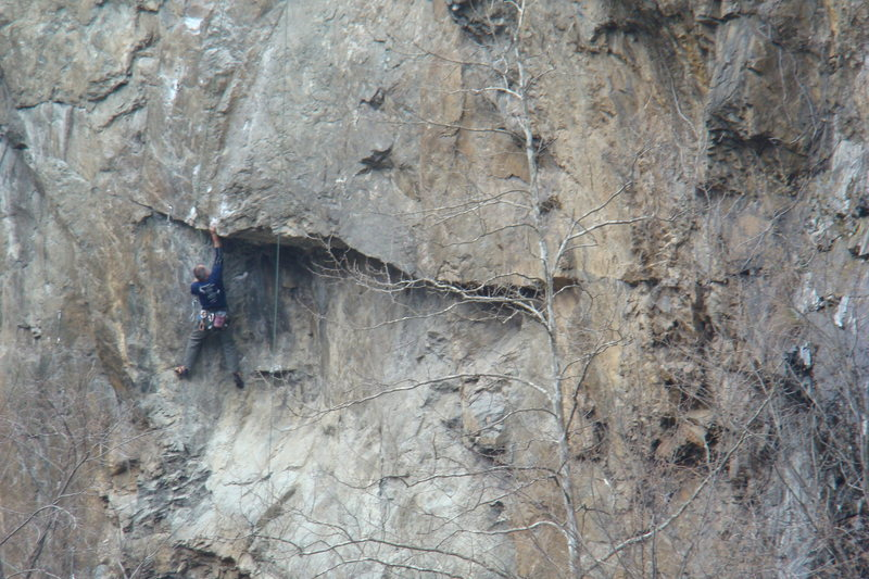 Rock Climbing Photo: Ted Cofelt on Poised for Peril.
