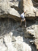 Rock Climbing Photo: Max Snyder working out the beta on Early Bird Spec...