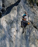 Rock Climbing Photo: On top of La voltige 6a+