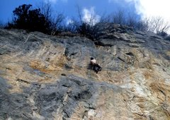 Rock Climbing Photo: Fakirtrip 6b+ crux