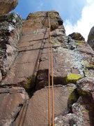 Rock Climbing Photo: A closer view of the climb.