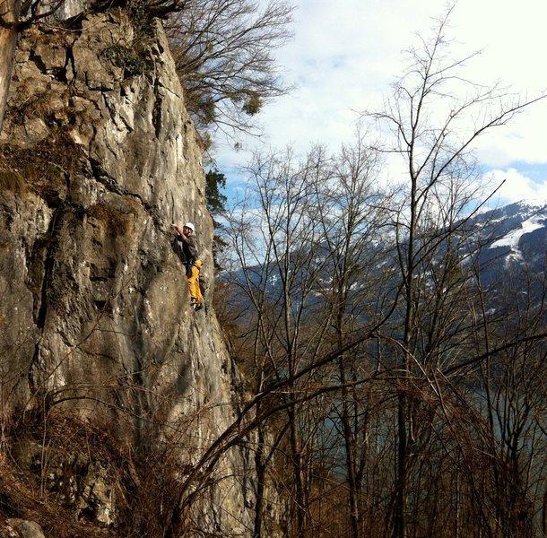 Rock Climbing Photo: An anfänger at work.