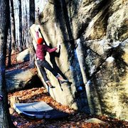 Rock Climbing Photo: try again v5