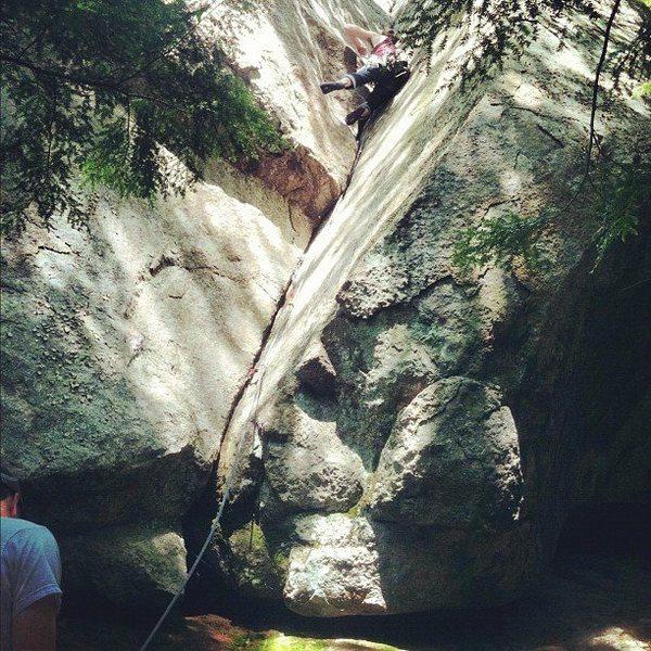 Crack above the boulder natural area kind of towards devils den...