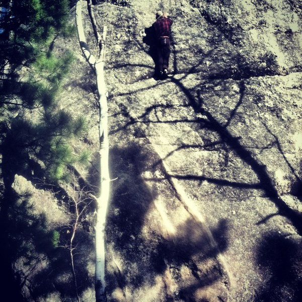 Anonymous Climber Free solos Dykes Next Door 3-2-13.