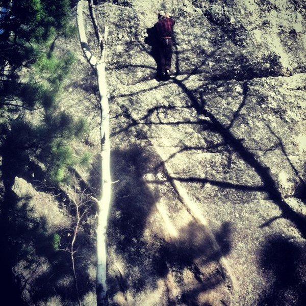Rock Climbing Photo: Anonymous Climber Free solos Dykes Next Door 3-2-1...