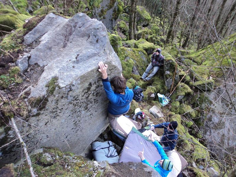 Rock Climbing Photo: Big reach