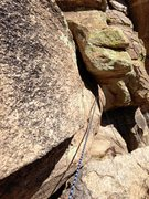Rock Climbing Photo: Be sure to protect your second by throwing a cam i...