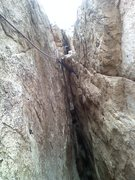 Rock Climbing Photo: Showing some alternatives for P2:   One can skip t...