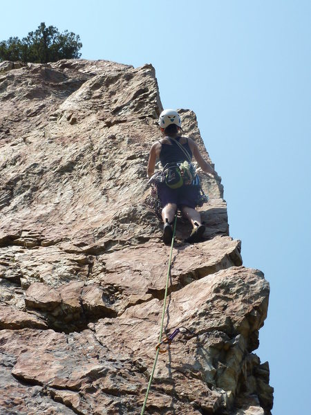 Awesomely exposed out on the arete