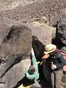 Rock Climbing Photo: Reggie jamming his way up on Break Down