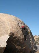Rock Climbing Photo: Use What I Got (V2), Joshua Tree NP