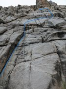 Rock Climbing Photo: The blue squiggle.
