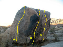 Rock Climbing Photo: Callous Boulder, Joshua Tree NP  A. Calloused and ...