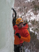 Rock Climbing Photo: Some guy leading up the steep left side of Central...