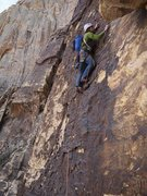 Rock Climbing Photo: Black Dagger, Pitch 2.