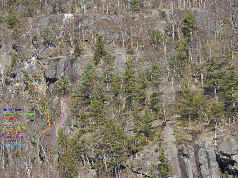 Rock Climbing Photo: View full size image  This unfrequented area has s...