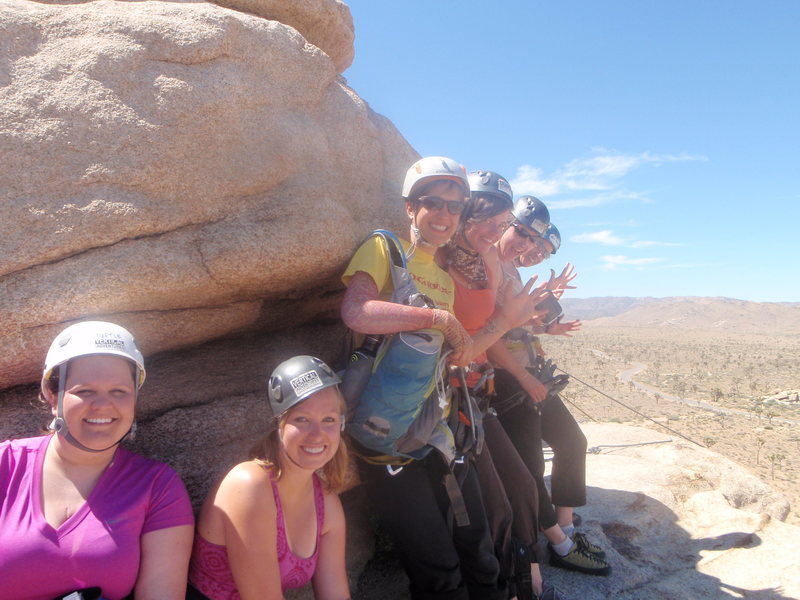FD friends ready to repel in Joshua Tree