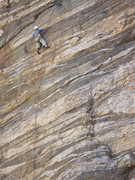 Rock Climbing Photo: Doug snagging the FA.