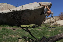 V1 Heel Hook Traverse. On the boulder next to Chocoholic slab. Super fun