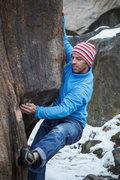 Rock Climbing Photo: Chris Fox getting involved.