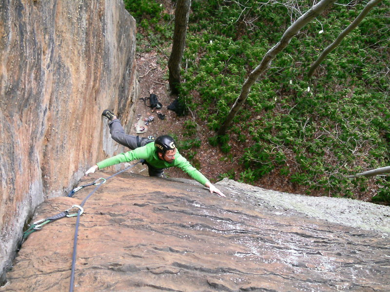 Into the second crux