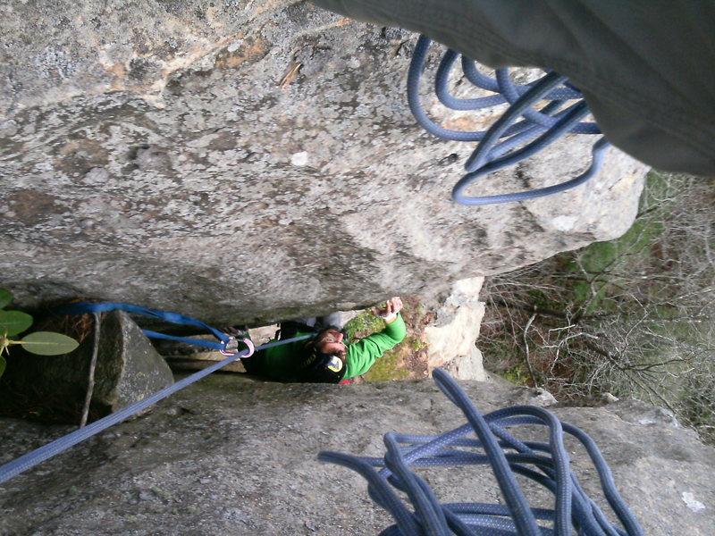 Rock Climbing Photo: 3rd pitch chimney