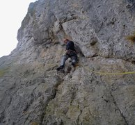 Rock Climbing Photo: fantastic 5c+ traverse on P3