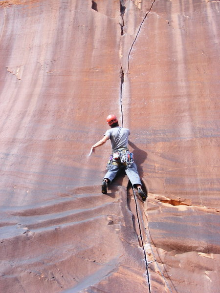 Rock Climbing Photo: pre crux spanking.