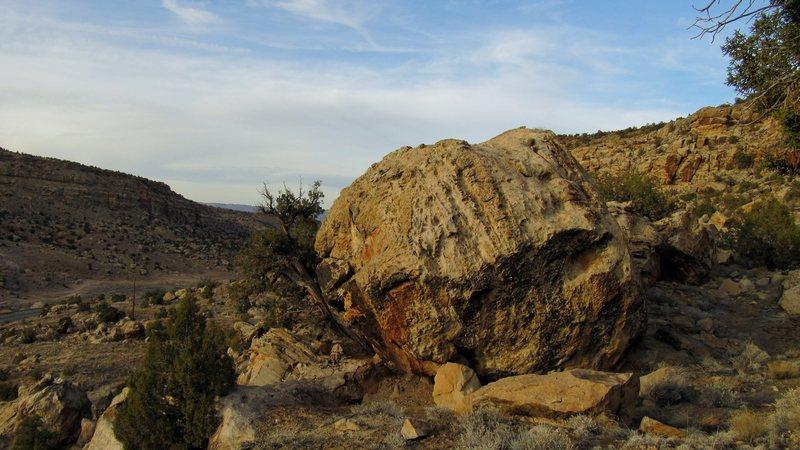 Definite Boulder's south face.