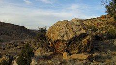 Rock Climbing Photo: Definite Boulder's south face.