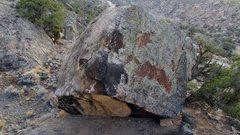 Rock Climbing Photo: Definite Boulder's south-facing overhang.