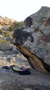 Rock Climbing Photo: Violet Trust problem, nice prow, reminds me of Chi...