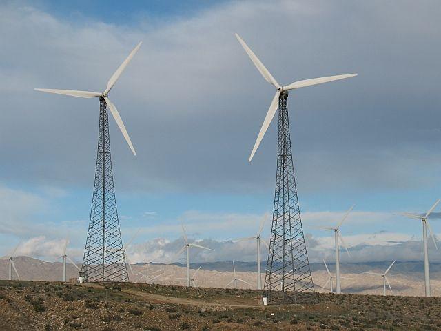 Rock Climbing Photo: Wind turbines, Hwy 62