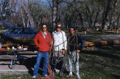 Chip, Greg,and I getting ready for an action packed day on Devil's Tower