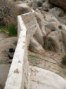 Rock Climbing Photo: The dam at Squaw Tank, Joshua Tree NP