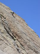 Rock Climbing Photo: Jeroen getting close to bolt #2 and the crux.